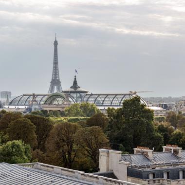 Hotel Castiglione - Terrace - Tour Eiffel