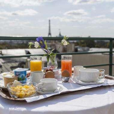 Hotel de Castiglione -Breakfast with a view